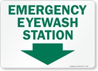 Emergency Eyewash Station Sign