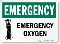 Emergency Oxygen Sign