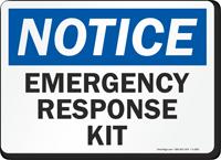 Notice Emergency Response Kit