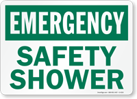 Emergency Safety Shower Sign
