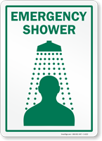 Emergency Shower (with graphic) (vertical)