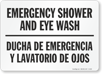 Emergency Shower and Eye Wash (Bilingual)