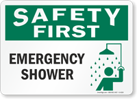 Safety First: Emergency Shower (with graphic)