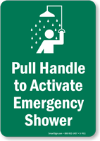 Emergency Shower Sign (with Graphic)