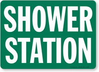 Shower Station Sign