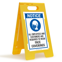 Employees Customers Are Required To Wear Face Coverings FloorBoss Sign