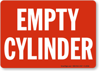 Empty Cylinder Sign