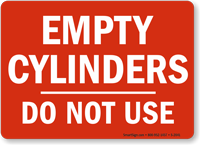 Empty Cylinders Sign