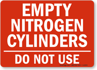 Empty Nitrogen Cylinders Do Not Use