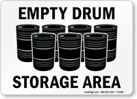 Empty Drum Storage Area Sign