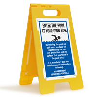Enter The Pool At Your Own Risk FloorBoss Sign