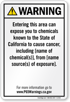 Environmental Exposure Prop 65 Sign
