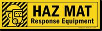 Magnetic Cabinet Label: Haz Mat Response Equipment