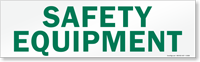 Magnetic Cabinet Label: Safety Equipment