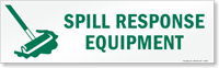 Magnetic Cabinet Label: Spill Response Equipment