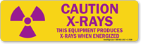 Equipment Produces X-Rays When Energized Radiation Sign