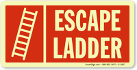 Escape Ladder Sign