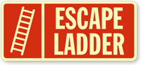 Escape Ladder Safety Sign