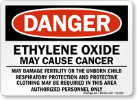 Ethylene Oxide May Cause Cancer Danger Sign
