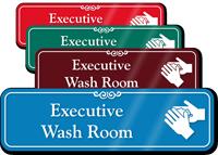 Executive Wash Room ShowCase Sign