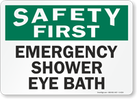 Emergency Shower Eye Bath Sign