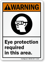 Eye Protection Required Sign, OSHA Warning