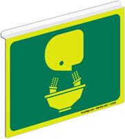 Glow-in-Dark Projecting Eye Wash Symbol Sign