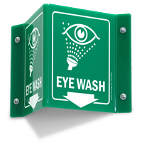 Eye Wash Down Arrow Projecting Sign