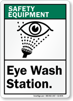 Eye Wash Station Safety Equipment Sign