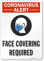 Face Covering Required Face Mask Safety Sign