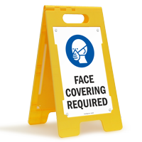 Face Covering Required FloorBoss XL™ Floor Sign