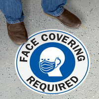 Face Covering Required SlipSafe Floor Sign