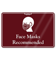 Face Masks Recommended ShowCase Sign