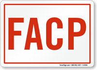 FACP Fire Alarm Control Panel Sign