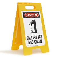 Danger Falling Ice Snow Floor Sign