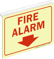 Fire Alarm Glow Z-Sign for Ceiling