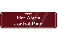 Fire Alarm Control Panel ShowCase Wall Sign