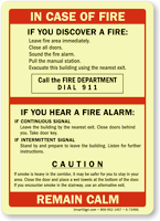In Case Of Fire, Dial 911 Sign