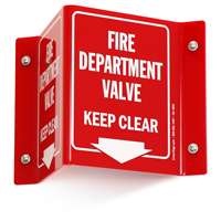 Fire Department Valve Projecting Sign