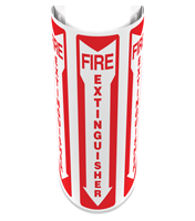 180 Degree Projecting Fire Extinguisher Sign with arrow
