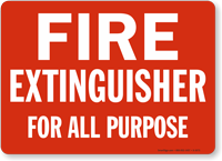 Fire Extinguisher For All Purpose