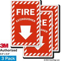 Fire Extinguisher Label Set