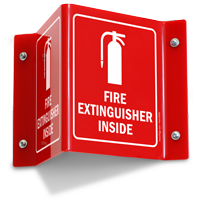Fire Extinguisher Inside Sign with Graphic