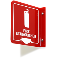 2 Sided Projecting Fire Extinguisher Sign