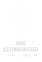 Fire Extinguisher TactileTouch Braille Sign