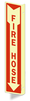 Fire Hose GlowSmart™ Sign (with Arrow)