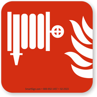 Fire Hose Or Standpipe Symbol NFPA 170 Sign