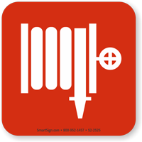 Fire Hose Or Standpipe Outlet Symbol NFPA 170 Sign