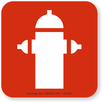 Fire Hydrant Symbol NFPA 170 Sign