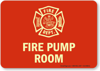 Fire Pump Room Glow Sign